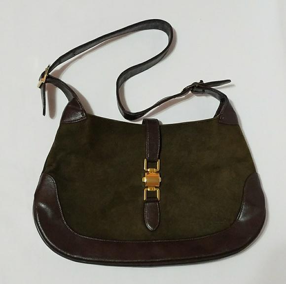 Handbags - Beautiful green and Brown purse